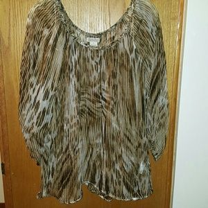 Lucky Brand Shear 3/4 inch sleeve top size XL